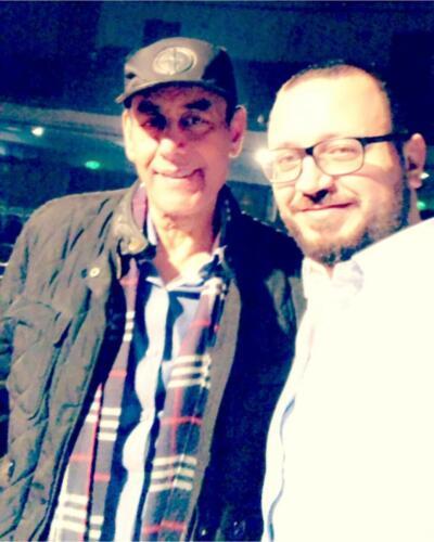 مصطفى النفياوي مع الفنان احمد بدير