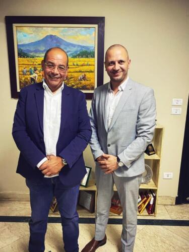 مصطفى النفياوي مع الاعلامي محمد شردي
