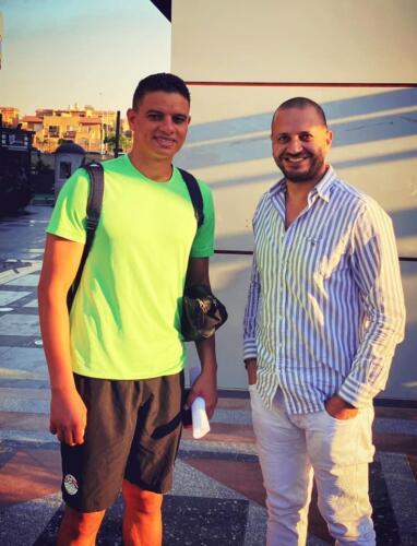 مصطفى النفياوي مع الكابتن سعد سمير