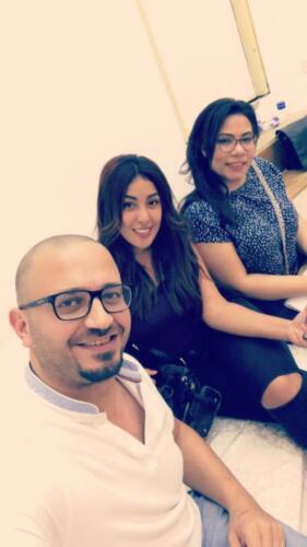 مصطفى النفياوي مع الفنانة نيرمين ماهر والفنانة ايمان السيد