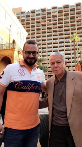 الفنان مصطفى النفياوي مع الكابتن حسن حمدي