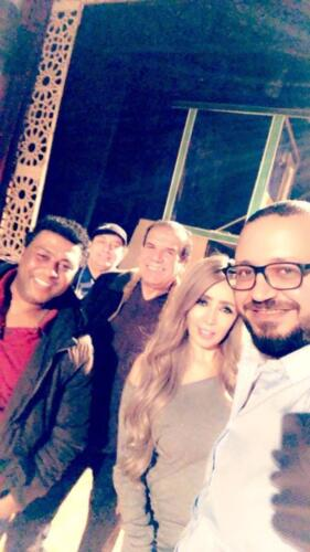 مصطفى النفياوي مع نجوم مسرحية