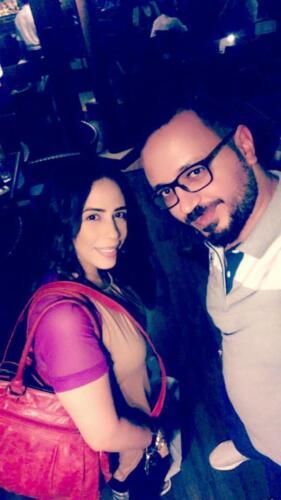 مصطفى النفياوي مع الفنانة جيهان سلامة