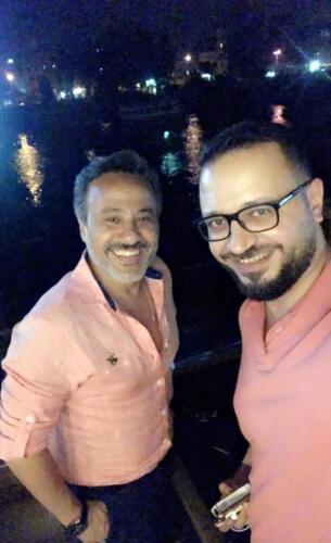 مصطفى النفياوي مع الفنان ايهاب فهمي