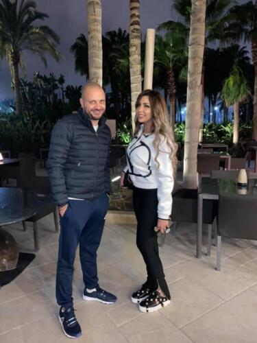 مصطفى النفياوي مع الاعلامية سارة خليفة